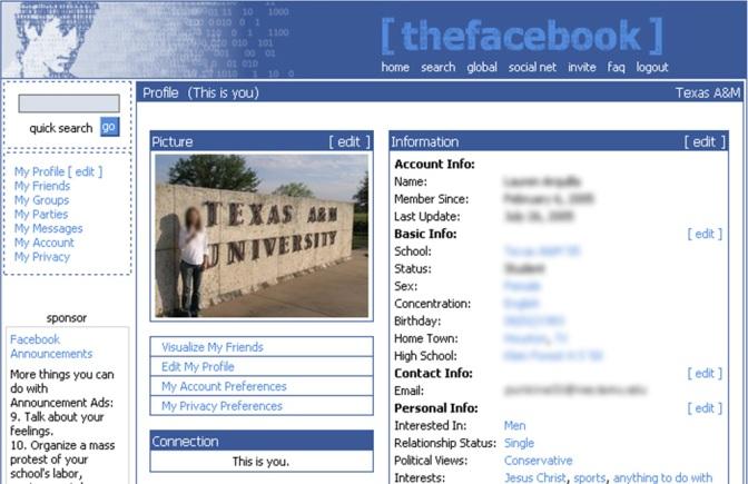 A mobile Facebook