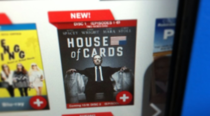 House of Cards available at Redbox