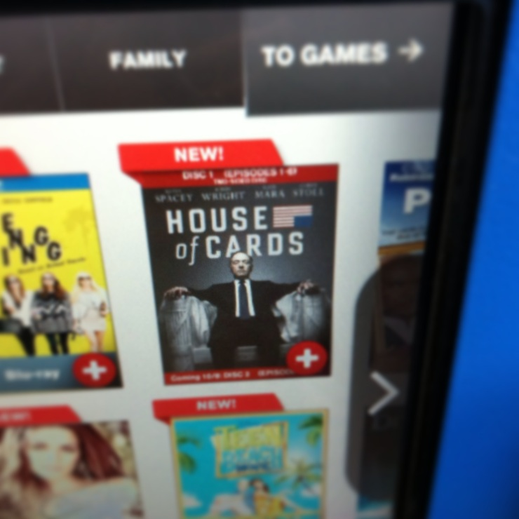 House of Cards at Redbox
