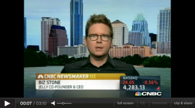 Biz Stone on the value of valuations